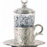 Set ceainic cu ceasca din metal, Turcia
