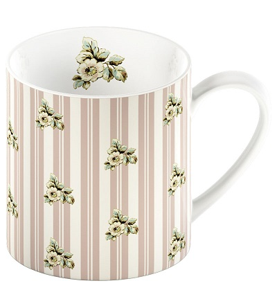 Cottage Flower Pink Stripes