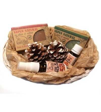 Cos cadou sapunuri si uleiuri cosmetice 100% naturale