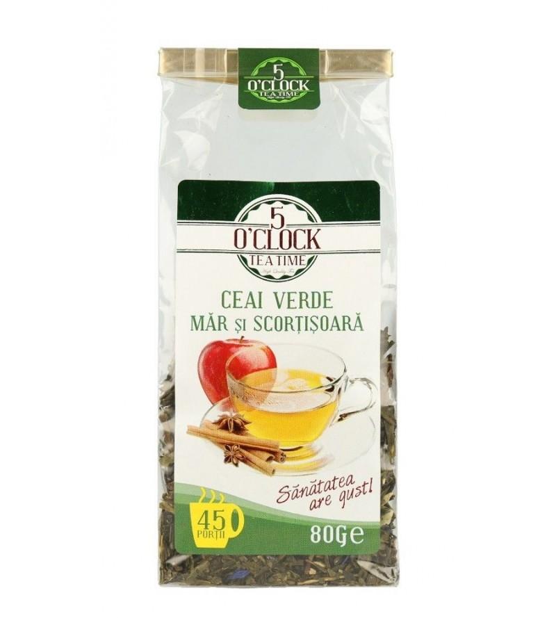 Ceai Verde cu Mar si Scortisoara (80 g)