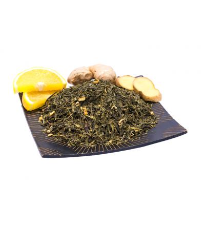 Ceai verde cu ginseng si ghimbir