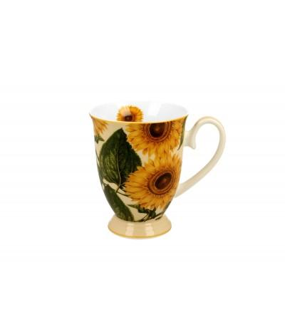 Cana cu picior, portelan, 0,325 l, Sunflowers