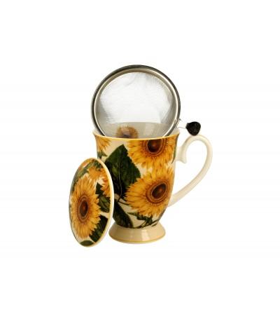 Cana portelan cu infuzor, 0,325 l, Sunflowers