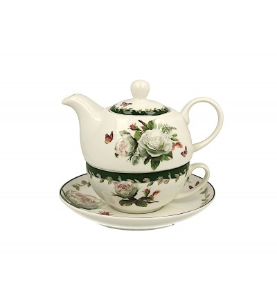 Set ceainic cu ceasca, portelan, 0.42 l, Edith