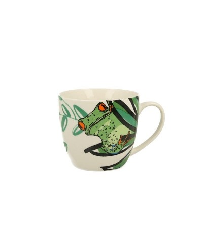 Cana portelan in cutie cadou, 0.48 l, Frog