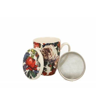 Cana portelan cu infuzor, 0.32, White Roses