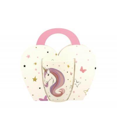 Cana portelan in cutie cadou, 0.34 l, Unicorn