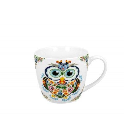 Cana portelan, 0.46 l, Owls